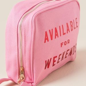 """Ban.do NWOT Toiletry Bag """"Available for Weekends"""""""
